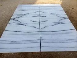 White With Pattern Indian Marble Makrana Albeta Standard Grade, Tiles, Thickness: 16 mm