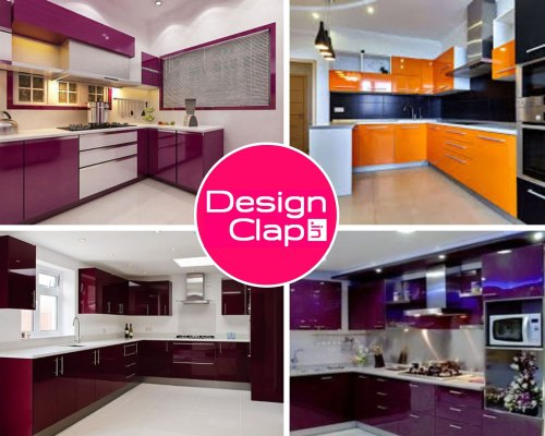 Design Clap Wooden Uv High Gloss Kitchen Interior Designing Service Warranty 5 10 Years Kitchen Cabinets Rs 1100 Square Feet Id 20900566555