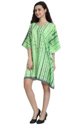 Free Size Women Short Printed Tie Dye Kaftan