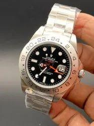 Analog Silver Rolex Men Wrist Watches
