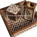 Acrylic & Mother Of Pearl Bakhoor Burner Tray Set