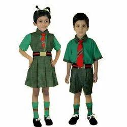 Siddh Creations Summer Cotton School Uniform, Size: Small