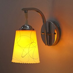 Pradhuman Stainless Steel, Glass Hanging Wall Lamp, For Bedroom, 9 Watt