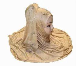 Women Diamond Stone Work Hosiery Scarf Hijab Stole