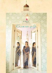 Rajtex Karmeen Silk Handloom Weaving Silk Printed Saree Catalog