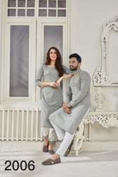Cotton Ankle Length Couple Kurta And Kurti