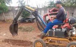 7 Feet 9hp Homemade Mini excavator backhoe, Maximum Bucket Capacity: 1.5 tonnes, Model Name/Number: HSSI-1617