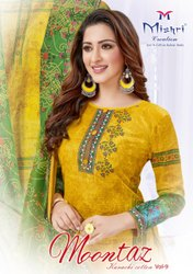Cotton Multicolor Mishri Creation Launched Mumtaz Vol 9, Size: Unstitched