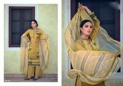 Zulfat Casual Wear Ladies Jam Cotton Palazzo Suit, Handwash
