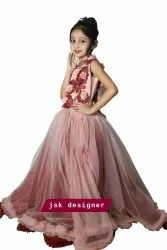 Girl Kids Red Gown