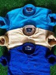goldenfiber Cottton Mens Lycra Shirt, Size: M To Xxl