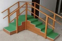 Yellow & Green Wood Hospital Stair Case