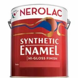 High Gloss Red Nerolac Synthetic Enamel Paint 4LTR For Exterior, Packaging Type: Bucket