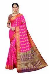 Ofline Selection 6.3 m (with blouse piece) Ladies Designer Banarasi Silk Saree