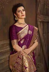 Festive Wear Printed Silk Saree, 6.3 M (with Blouse Piece)