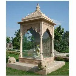 Pink Stone Chhatri Temple, Size: 6x6x13