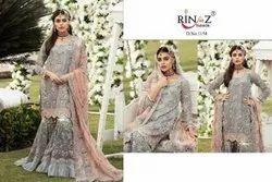 Semi- Patiala Salwar Random Georgette Party Wear Rinaz Hit List 4