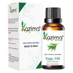 KAZIMA Sage Essential Oil - 100% Pure, Natural & Undiluted Oil