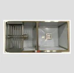 37x18, High Grade, Stainless Steel Double Bowl Satin Matt Handmade Kitchen Sink