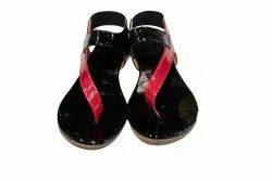 Leather Flats & Sandals Fancy Sandal, For Casual Wear