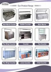 Metal Ss Commercial Counter, For Vada