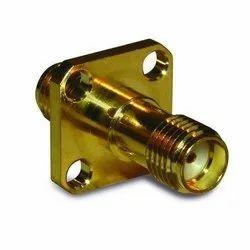 SMA Female To SMA Female 4 Hole Adaptor, Contact Material: Brass