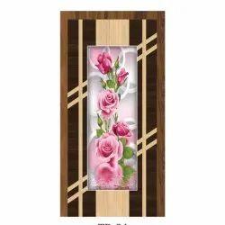 Floral Printed Wooden Laminated Door