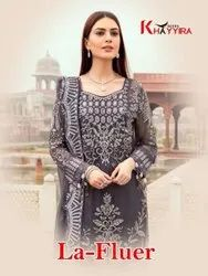 Khayyira La Fluer Georgette With Heavy Embroidery Pakistani Salwar Suit Catalog