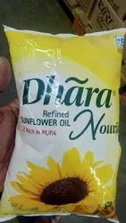Mono Saturated Vitamin A Dhara Sunflower Oil, Packaging Type: Plastic Bottle, Packaging Size: 1 litre