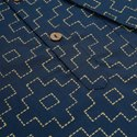 Janasya Men's Blue Cotton Kurta (MEN5002)