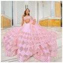 Beautiful Pink Colour Designer Lehenga Choli