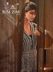 Rinaz Fashion Rim Zim Vol 6 Butterfly Net With Work Pakistani Suit Catalog