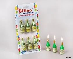 BC-30 Birthday Champagne Bottle Candles