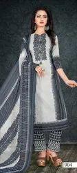 Cotton Satin Printed Unstitched Ladies Salwar Suit Dress