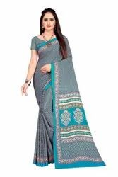 Women's Beautiful Crape Saree with Blouse Piece