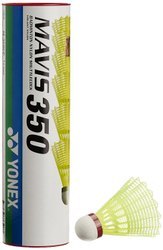 Yonex Mavis 350 Red Cap Nylon Shuttlecock ( Yellow ) (pack Of 6)