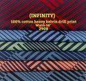 Infinity 100% Cotton Heavy Drill Kelvin Print Shirting Fabric