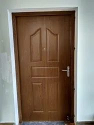 Brown Polished Metal Door, Single, Thickness: 6mm