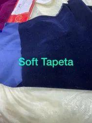 43-TAPETA BURKA SOFT FABRICS BLACK DYED CHIDIPAL, Plain/Solids