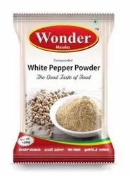 Wonder Masalas 100 gm Compounded White Pepper Powder, Packaging Type: Packet
