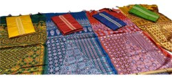 Printed Designer Dupatta Silk Suit Fabric