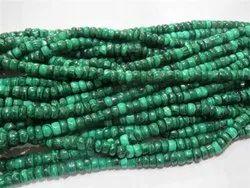 100% Natural Malachite Heishi Semi Precious Stone Beads