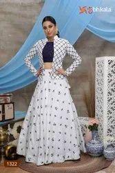 5 Color Available Embroidered ANK Enterprise Chiffon & Net Wedding Wear Lehenga Choli, Size: Semi Stitched