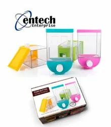 Plastic Rectangle Push Button Storage Containers, Square, Capacity: 1100 Ml