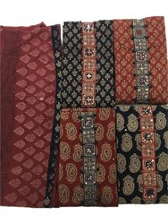 Cotton Ladies Kathiyawadi Printed Dress Material