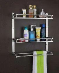 Wall Mounted Double Layer Shelf