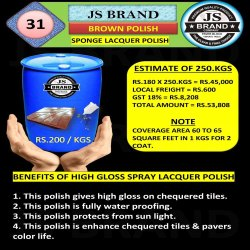 250 Kg Brown Sponge Lacquer Polish