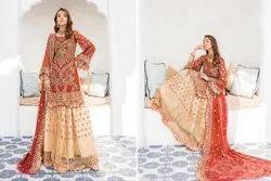 Rinaz Ladies Party Wear Pakistani Suit, Handwash