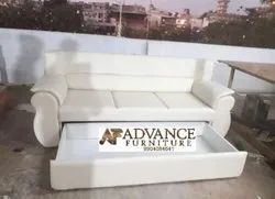 Wooden Antique 3 SITER SOFA WITH STOREJ BOX, Living Room