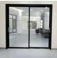 Hinged Plain Toughened Glass Doors, Thickness: 4mm